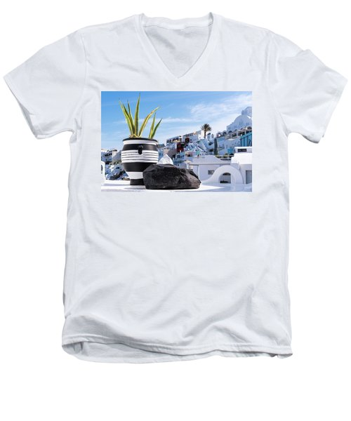Santorini - Greece Men's V-Neck T-Shirt
