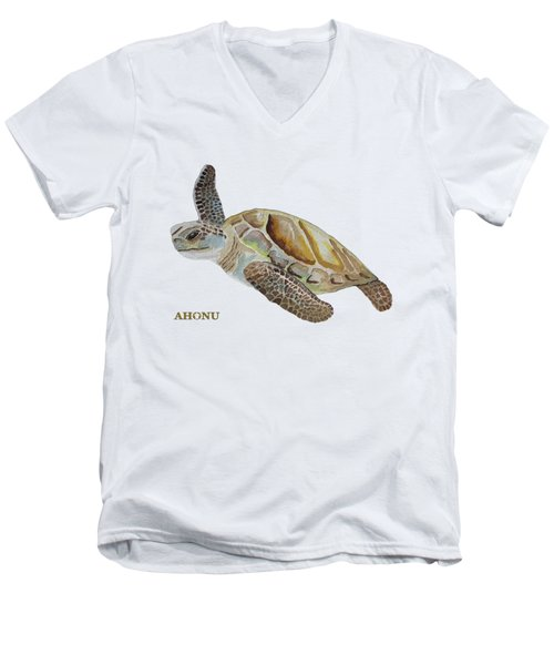 Sea Turtle Men's V-Neck T-Shirt