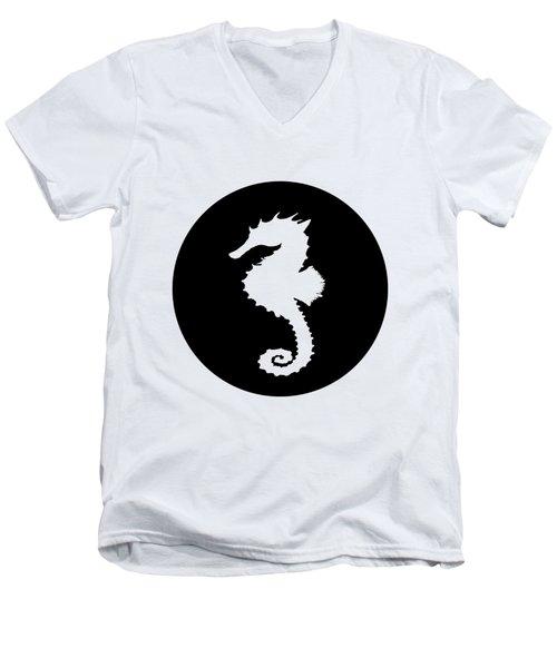 Seahorse Men's V-Neck T-Shirt by Mordax Furittus
