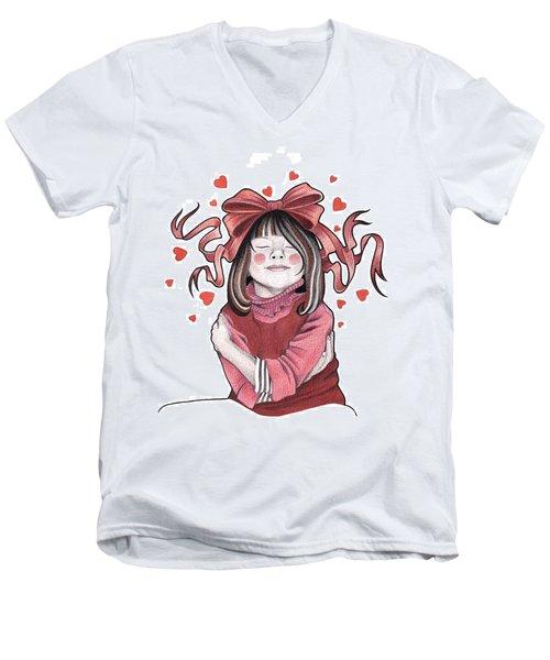 Selfie Men's V-Neck T-Shirt by Deadcharming Art