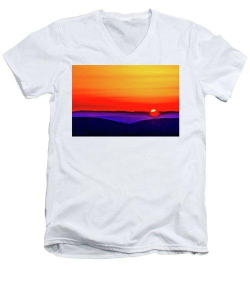 Shenandoah Valley Sunset Men's V-Neck T-Shirt