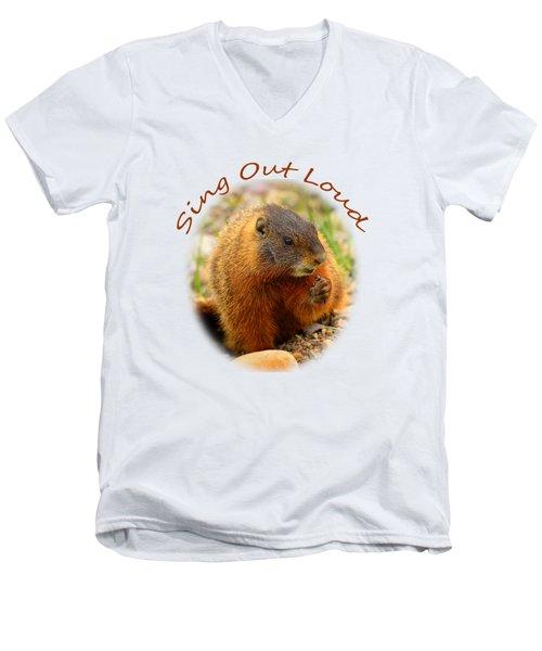 Sing Out Loud Men's V-Neck T-Shirt