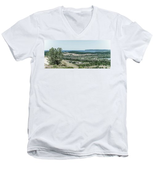 Men's V-Neck T-Shirt featuring the photograph Sleeping Bear Dunes National Lakeshore by Alexey Stiop