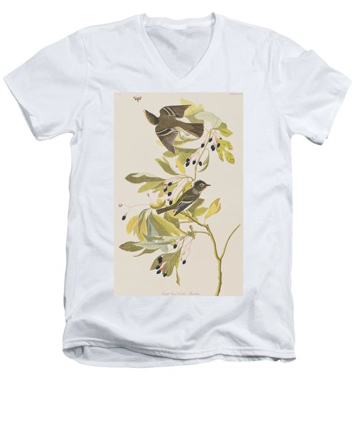 Small Green Crested Flycatcher Men's V-Neck T-Shirt