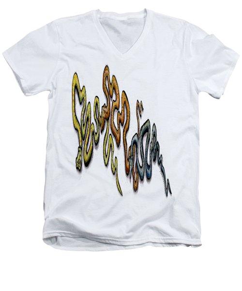 Snakes Men's V-Neck T-Shirt by Kevin Middleton