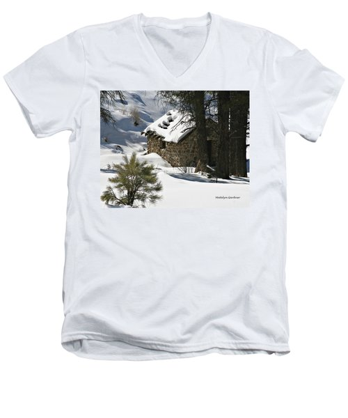 Snow Cabin Men's V-Neck T-Shirt