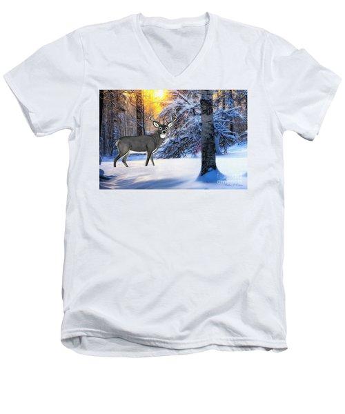 Snow Deer Men's V-Neck T-Shirt