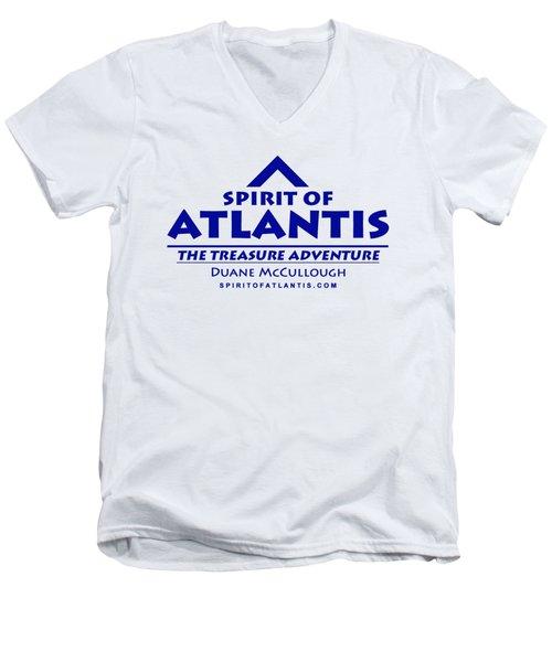 Spirit Of Atlantis Logo Men's V-Neck T-Shirt