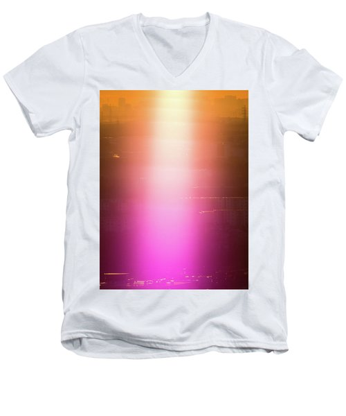 Spiritual Light Men's V-Neck T-Shirt by Tatsuya Atarashi