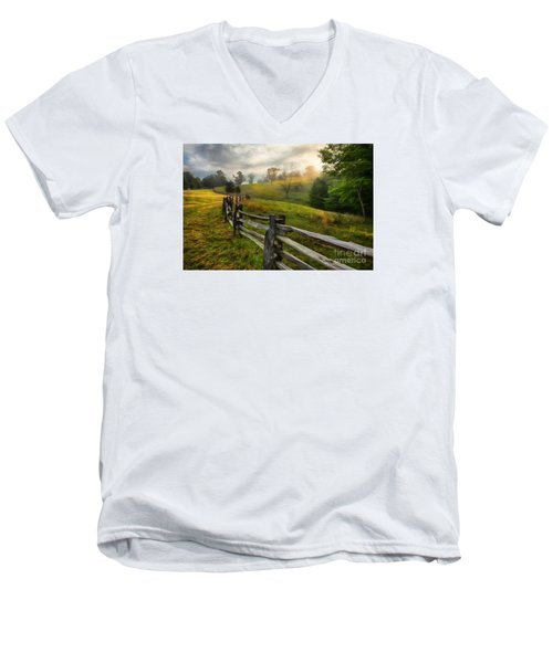 Splash Of Morning Light Ap Men's V-Neck T-Shirt