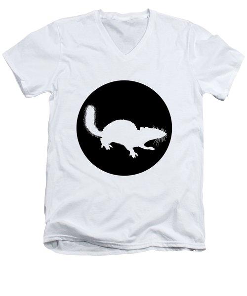 Squirrel Men's V-Neck T-Shirt by Mordax Furittus