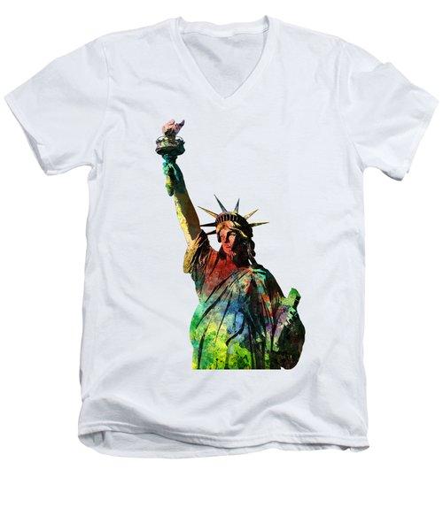Statue Of Liberty Men's V-Neck T-Shirt