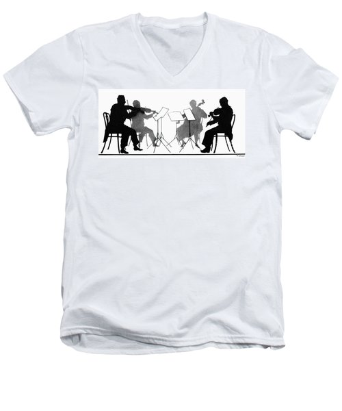 String Quartet, C1935 Men's V-Neck T-Shirt