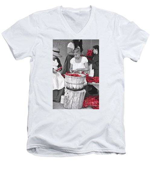 Stringing Ristras Men's V-Neck T-Shirt