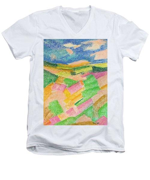 Summer Fields  Men's V-Neck T-Shirt