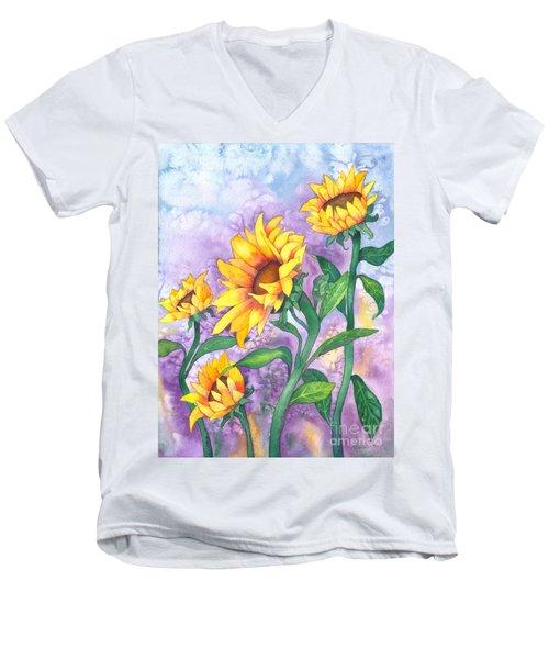 Sunny Sunflowers Men's V-Neck T-Shirt