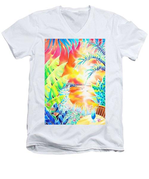 Sunset Cocktail Men's V-Neck T-Shirt