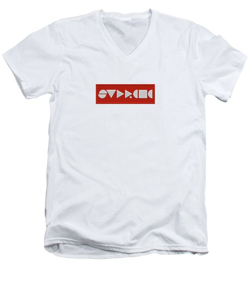 Supreme Being Embroidered Abstract - 1 Of 5 Men's V-Neck T-Shirt