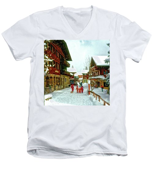 Switzerland Alps Men's V-Neck T-Shirt