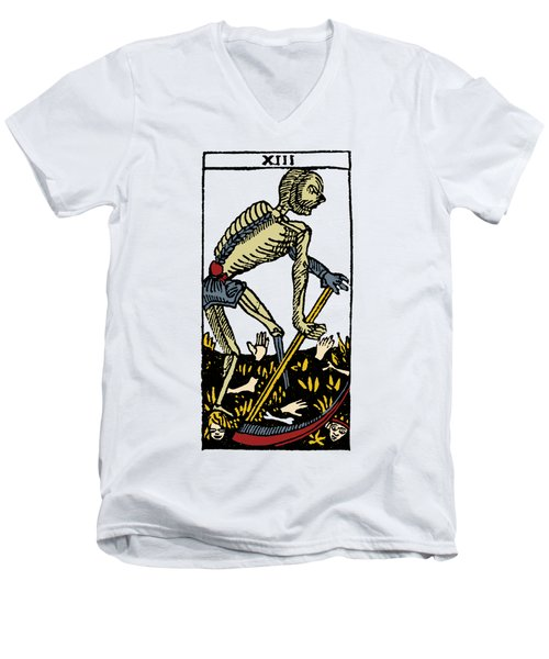 Tarot Card Death Men's V-Neck T-Shirt by Granger