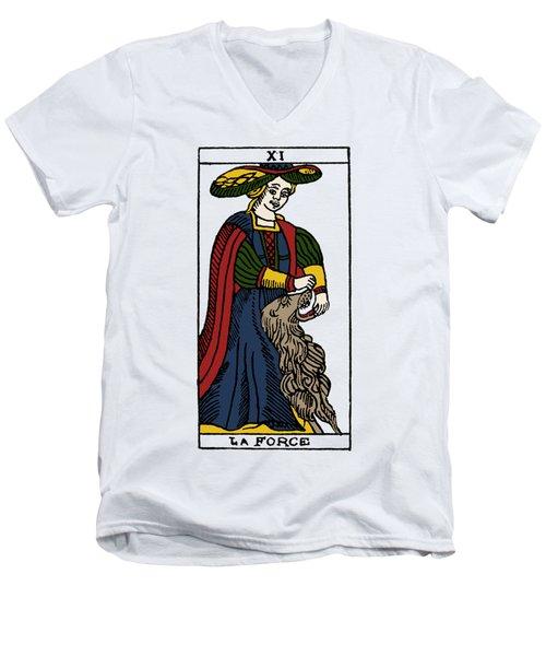 Tarot Card Strength Men's V-Neck T-Shirt