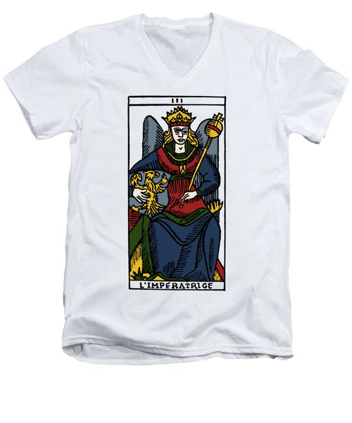 Tarot Card The Empress Men's V-Neck T-Shirt by Granger