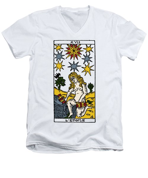 Tarot Card The Stars Men's V-Neck T-Shirt