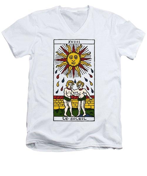 Tarot Card The Sun Men's V-Neck T-Shirt