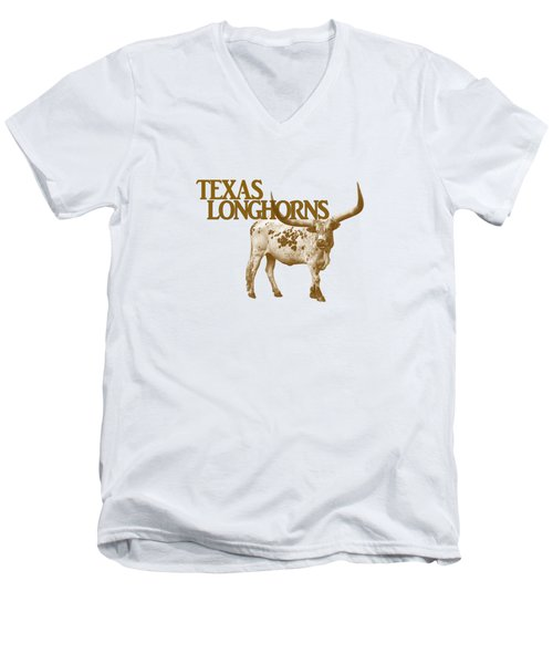 Texas Longhorns Men's V-Neck T-Shirt