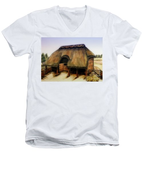 Thatched Barn Of Old Men's V-Neck T-Shirt
