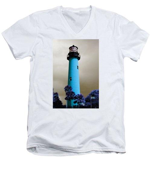 The Blue Lighthouse Men's V-Neck T-Shirt