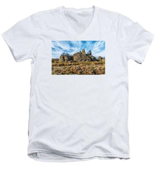 The Bomb Rocks Men's V-Neck T-Shirt