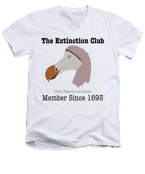The Extinction Club - Dodo Men's V-Neck T-Shirt by Marcus England
