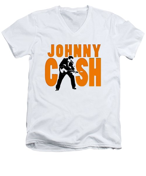 The Fabulous Johnny Cash Men's V-Neck T-Shirt