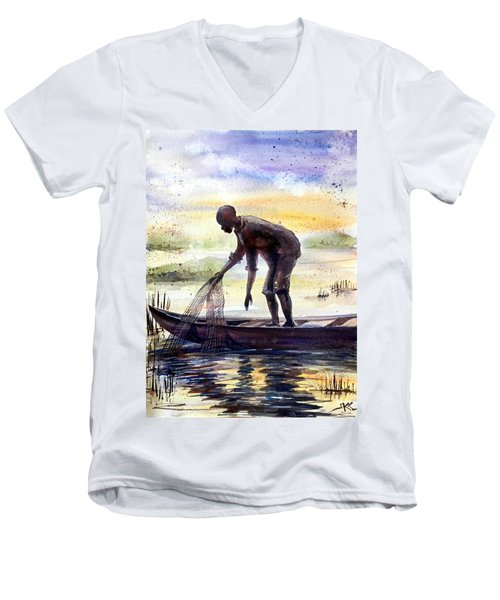 The Fisherman Men's V-Neck T-Shirt