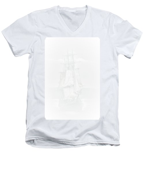 The Ghost Ship Men's V-Neck T-Shirt by David Patterson