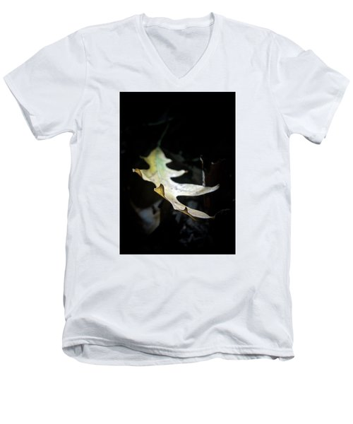 The Leaf Men's V-Neck T-Shirt by Tim Good