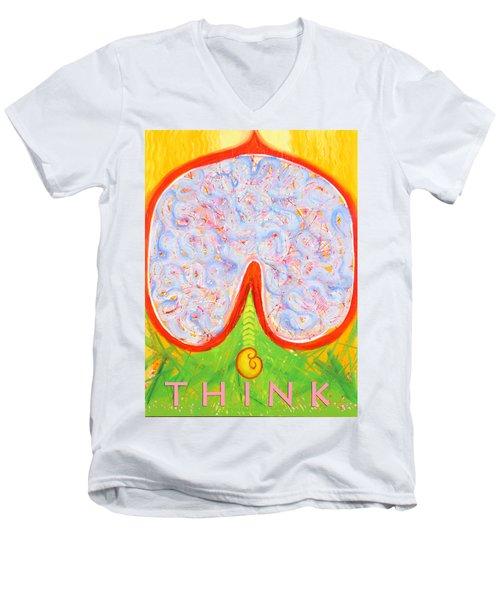 Think Men's V-Neck T-Shirt