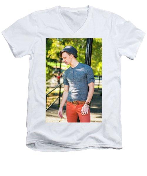 Thinking Outside Men's V-Neck T-Shirt