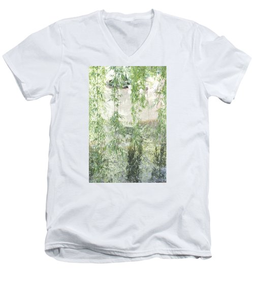 Men's V-Neck T-Shirt featuring the photograph Through The Willows by Linda Geiger