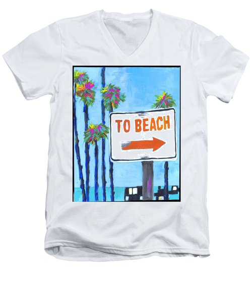 To The Beach Men's V-Neck T-Shirt