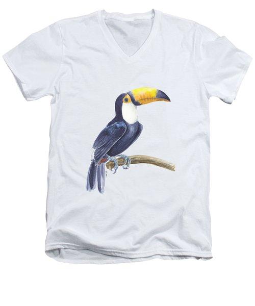 Toucan, Tropical Bird Men's V-Neck T-Shirt