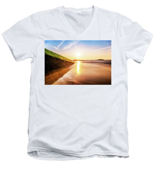 Touching The Golden Cloud Men's V-Neck T-Shirt by Thierry Bouriat