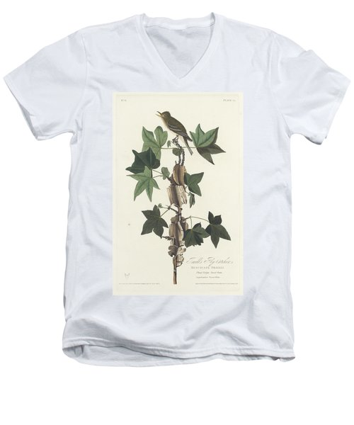Traill's Flycatcher Men's V-Neck T-Shirt