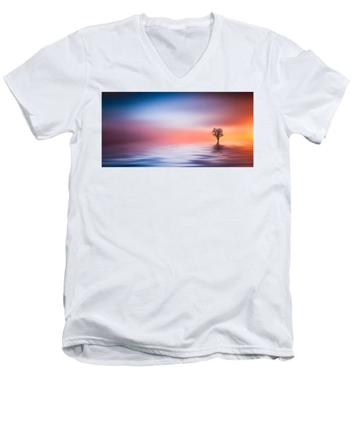 Tree Men's V-Neck T-Shirt by Bess Hamiti