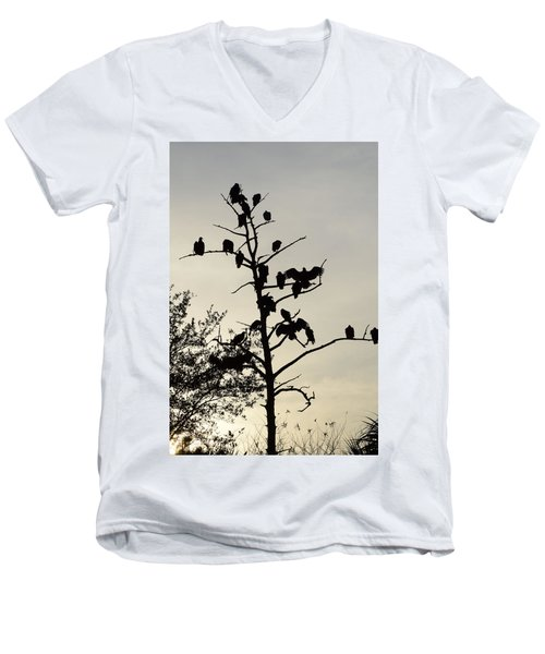 Tree For The Hungry Men's V-Neck T-Shirt