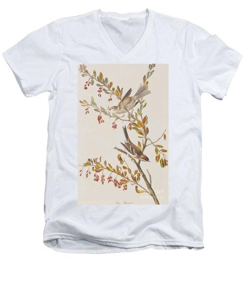 Tree Sparrow Men's V-Neck T-Shirt by John James Audubon