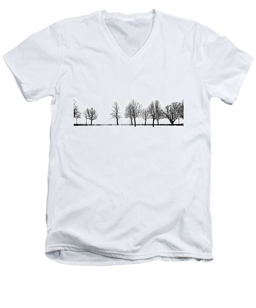 Men's V-Neck T-Shirt featuring the photograph Trees by Chevy Fleet