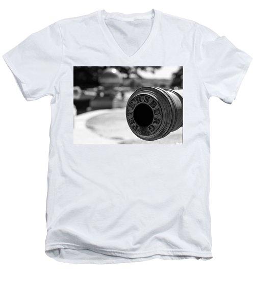 Trophy Point Cannon  Men's V-Neck T-Shirt