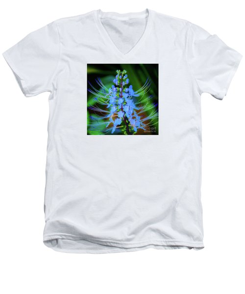 Tropical Plants And Flowers In Hawaii Men's V-Neck T-Shirt